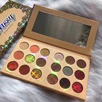 Otantik Kozmetik Hakiki Tasfiye Göz Farı Paleti 18 Renk Doğal Glitter Göz Farı Pigmentler Su Geçirmez Yüz Güzellik Vurgulayıcı Makyaj