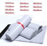 10 Größe New Kunststoff Poly Self-Dichtung Self Adhesive Express-Versand Tasche Weiße Courier Briefumschlag Courier Beitrag Post Mailer Taschen