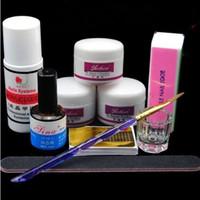 Acrylique liquide et de poudre de cristal UV Gel Nail Français Extension Conseils d'art faux ongles Outils Outils de manucure Brosse à ongles