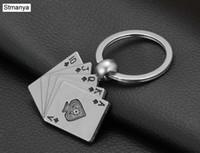 New Design Kühler Luxus Metall Schlüsselanhänger Auto Schlüsselanhänger Schlüsselanhänger Poker Casino Kette Farbe Anhänger für Mann-Frauen-Geschenk Großhandel