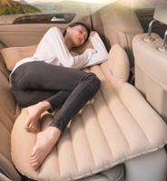 Carro de ar inflável de viagem colchão da cama Universal para Back Seat Multi funcional Sofa Pillow Camping Outdoor Mat Almofada NY110