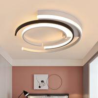 기하학적 현대 램프 LED 링 천장 조명 로프트 IIVNG 룸 조명 침실 북유럽 인테리어 조명기구