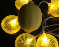 Fatia de limão LED luz corda decoração sala de bateria luzes de frutas luzes de férias luzes decorativas