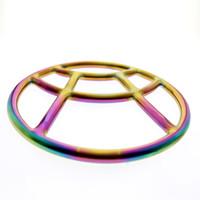 2019 최신 MKS06 무지개 shibari 반지 커플을위한 외과 스테인레스 스틸 본디지 기어 shibari 링 사립 성형의 특별 디자인