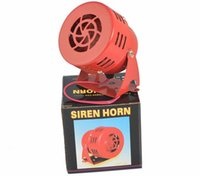 SONG DC 12V 3inch Automotive Air Raid Siren Horn Car Truck Motor Drive Allarme Rosso Universal Car Horn per Pickup Truck Horns Allarmi