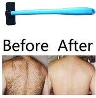 Homens manual Voltar Shaver Depilação plástico punho longo Shaver Cabelo Preso Shaver Navalha Evantek corpo Grooming Kit LXL372-A