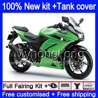 + Serbatoio per Kawasaki ZX250R EX250 08 09 2010 2011 2012 Verde lucido 201MY.127 EX 250 ZX 250R EX250 ZX250R EX250R 2008 2009 10 11 12 carenatura