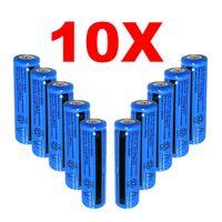 10PACK ليثيوم أيون قابلة للشحن بطاريات 3000mAh و18650 بطارية 3.7V 11.1W BRC بطارية غير AAA أو AA بطارية للشعلة مصباح يدوي ليزر