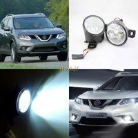 Juli König 18W 6LEDs H11 LED Nebel-Lampen-Montage-Kasten für Nissan X-trail T32 Rouge 2014-2016, 6500K 1260LM LED Tagfahrlicht DRL