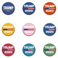 Trump Spille americano Stati Uniti d'America Elezioni plastica Pin circolari decorazioni Trump 2020 Keep America Grande Spille Armband Badge LJJA3836