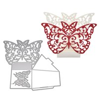 wholesale Metal Steel Cutting Dies Stencil Butterfly Box Fra...