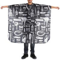 140x45 سنتيمتر نمط أسود للماء تصفيف كيب التفاف ثوب المئزر الحلاق تصفيف الشعر قص القماش أدوات التصميم