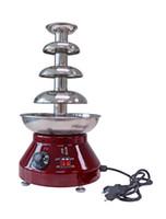 Kommerzielle etl ce elektrische 4 eile schokoladenbrunnen fondue maker, schokolade fondue maschine, schokolade fondue brunnen