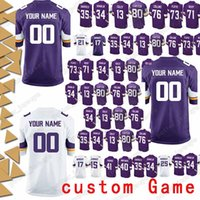 56d88f885 Minnesota 99 Danielle Hunter Jersey vikings 97 Everson Griffen 98 Linval  Joseph 54 Eric Kendricks 17 Jarius Wright custom Game Jerseys