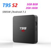 T95 S2 CAIXA de TV Android 7.1 OS Inteligente Caixa de TV 2 GB 16 GB Amlogic S905W Quad Núcleo 2.4 GHz WiFi set top box 1 GB 8 GB T95S2 PK X96 mini