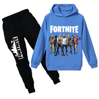 Teenmiro Fortnite ملابس الاطفال مجموعة للبنين بنات الربيع الأطفال بدلة رياضية المراهقين مقنع البلوز سروال معركة رويال رياضية للأطفال