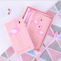 حار شحن مجاني بالجملة ins فتاة القلب زوجين فلامنغو يونيكورن دفتر كتيب مجموعة يوميات فتاة آلهة هدية