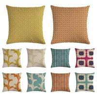 45 * 45 cm çizgili geometrik Minder örtüsü yastık kılıfı Cojines Decorativos Para Kanepe ev Yatak Odası dekoru Ofis Yatak Odası XD23394