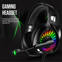 cuffie da gioco luminoso 4D Stereo RGB Marquee cuffie con microfono per PS4 Xbox One / Laptop / computer tablet Gamer auricolari up Light
