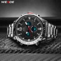 Weide Mens Sport Top Luxury Brand Movimento Quartz Resistente à água Relosjes Hombre Moda Casual Alarme Digital relógio de pulso relógio de relógio
