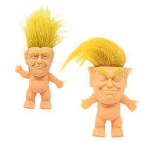 Trump Silikon Troll Bebek Yaratıcı Simülasyon El Yapımı Süsler Doğrudan Komik Yaratıcı Oyuncaklar Vinil Aksiyon Figürleri Uzun Saç Bebekler Komik El