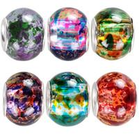 30 pezzi Bulk Colori surreali colori murano vetro spray spray perline in forma Braccialetto di fascino europeo GIOIELLI DI FAI DA TE