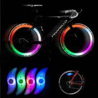 2018 nouveau vélo à vélo Spoke LED fil Pneu lumineux lampe Roue de bicyclette Spokes Lumières # NE822