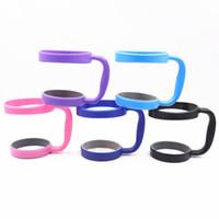J 30 OZ Tumbler Kolu Tutucu Taşınabilir Plastik Kupası Paslanmaz Çelik Tumbler Vakum Yalıtımlı Kahve Kupalar için Kolları
