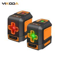 Yikoda Laser Level Liquer Cross Line Laser Red / Green Beam المحمولة 2 خطوط مصغرة المستوى متر قياس أدوات الأجهزة