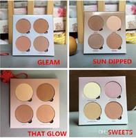 ¡En stock! ¡Alta calidad! Maquillaje Bronceadores Resaltador Maquillaje 4 colores Sombra de ojos Face Powder Blusher Palette 1pcs