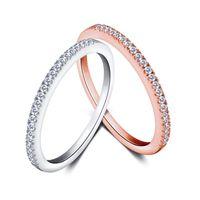eenvoudige ontwerpen zirkoon stenen diamant edelsteen sieraden dames kubieke zirkonia sieraden Dubai 925 sterling zilveren ring juwelen china fabrieksprijzen groothandel