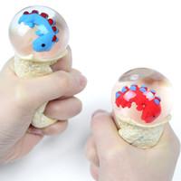 Multicolor exprimido dinosaurio huevos bebé realista dragón antiestresas trucos de ventilación bolas anti estrés niño regalos novedad gag juguetes
