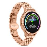 M9 Smart Watch con Diamond Sport Tracker Señoras Relojes de pulsera IP68 Impermeable Femenino Femenino Ciclo menstrual Período Recordatorio para mujeres