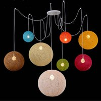 E27 Modern colorful pendant lights Hanging Lamp for living r...