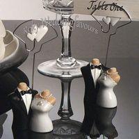 10 STÜCKE Braut und Bräutigam Kombination Platz Kartenhalter Party Favors Anniversary Party Table Decor Supplies
