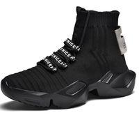 Mode Nouveau design respirant Homme gros Casual Fly Knit Sock Chaussures de sport pour couple marche en plein air