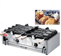 Alta efficienza del gelato Taiyaki macchina / Taiyaki creatore della cialda / Big Fish a forma di torta di muffa macchina Prezzo