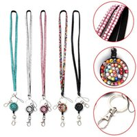 Alta calidad Bling Rhinestone Crystal Neck Lanyard Retráctil ID nombre Badge Reel Key Holder venta al por mayor