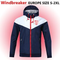 Nimes rüzgarlık fermuar ceket, Nimes Kapşonlu futbol WINDBREAKER Futbol ceket Spor Nimes tam fermuarlı ceket Erkekler Ceketler
