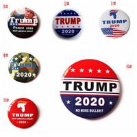 7 개 스타일 금속 트럼프 배지 2020 에나멜 핀 미국 대통령 캠페인 정치 브로치 코트 보석 브로치 파티 호의 DBC VT1158