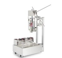 Processamento de alimentos Comercial 5L Manual Espanhol Churros Fazendo Máquina 12L Deep Fryer
