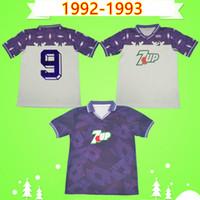 1992 1993 Fiorentina Retro Futbol Formaları 92 93 Uzak Beyaz Ev Mor Gabriel Futbol Gömlek Batistuta Üniforma Vintage Maglia Da Calcio