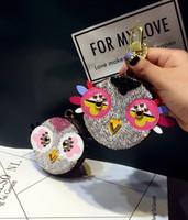 키 체인 귀여운 다이아몬드 사랑 새 동전 지갑 크리 에이 티브 만화 오래 된 꽃 가방 열쇠 고리 장식 여성 자동차 키 체인 MA25A