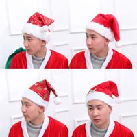 Festival Hat Snowflake Pattern print Santa Claus Hats Long Plush Cloth Fiesta de Navidad Holiday Xmas beanies cap LJJA2992