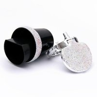 Nueva Bling Bling diamantes de imitación portátil coche Cenicero Cenicero de cristal con Diamond Light Led Copa del cenicero del coche de almacenamiento