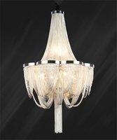 LED moderne Lampe suspendue à la main Cascade Restaurant Bar Villa Hôtel Maison Lustre Aluminium Chaîne Tassel Lampe PA0028