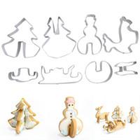 Нержавеющая сталь 3D Рождество печенье плесень резаки торт печенье плесень помадной резак DIY выпечки инструмент 8 шт. / компл.