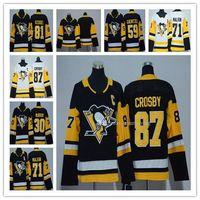 Mulheres 2018 Pittsburgh Penguins 87 Sidney Crosby 71 Evgeni Malkin 81 Phil Kessel 58 Leitang 30 Murray 66 Lemieux 59 Guentzel Gelo Hóquei Jersey
