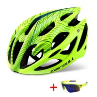 Professional Road Mountain Bike Helmet with Glasses Ultralight DH MTB All-terrain Bicycle Helmet Sports Riding Cycling
