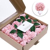 50PCS 1 مربع جودة عالية محفوظ الزهور زهرة الخالد روز عيد الأم هدية الحياة الأبدية زهرة المواد علبة هدية